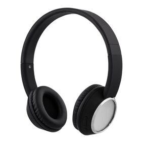 24hshop STREETZ Bluetooth-hodetelefoner med mikrofon - Svart/Krom