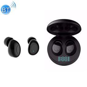 24hshop J1 Trådløse Bluetooth V5.0 Hodetelefoner med LED-Ladeboks