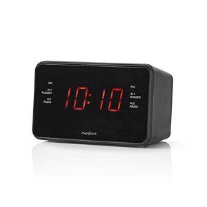 """24hshop Nedis Digital klokkeradio med FM 0.9"""" LED"""