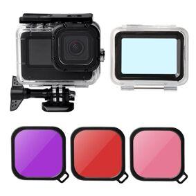 24hshop Vanntett deksel og linsefilter til GoPro HERO9 Black