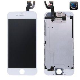24hshop iPhone 6 LCD + Touch Display Skjerm med kamera og ramme - Hvit farge