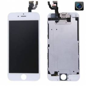 24hshop iPhone 6S LCD + Touch Display Skjerm med kamera og ramme - Hvit farge