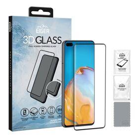 24hshop Eiger 3D Temperert Skjermbeskyttelse Huawei P40 - Klar/Svart