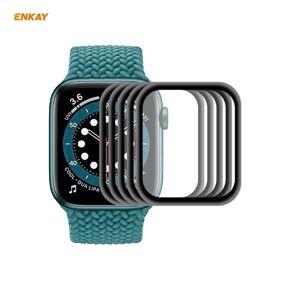 24hshop 5-pk Avrundet skjermbeskyttelse til Apple Watch 6/5/4/SE 44mm