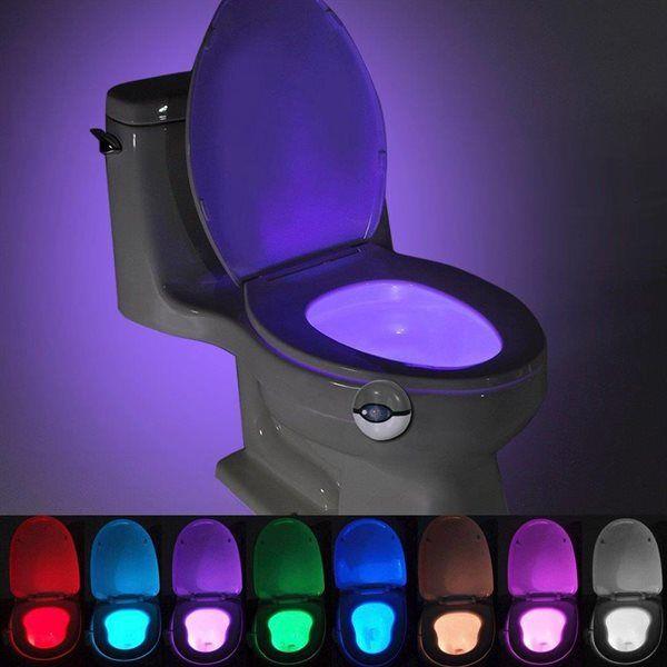 24hshop Bevegelseaktivert nattlampe til toalettet - 7 farger