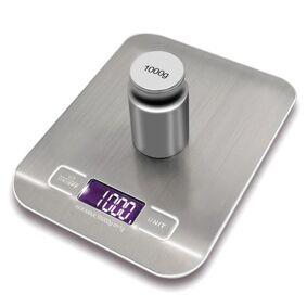 24hshop Kjøkkenvekt 5kg i Rustfritt stål