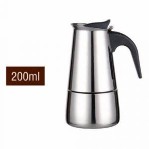 24hshop Espresso Kaffetrakter i rustfritt stål 200ml