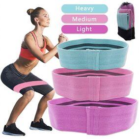 24hshop Yoga Strechbånd - 3-pk med ulike lengder