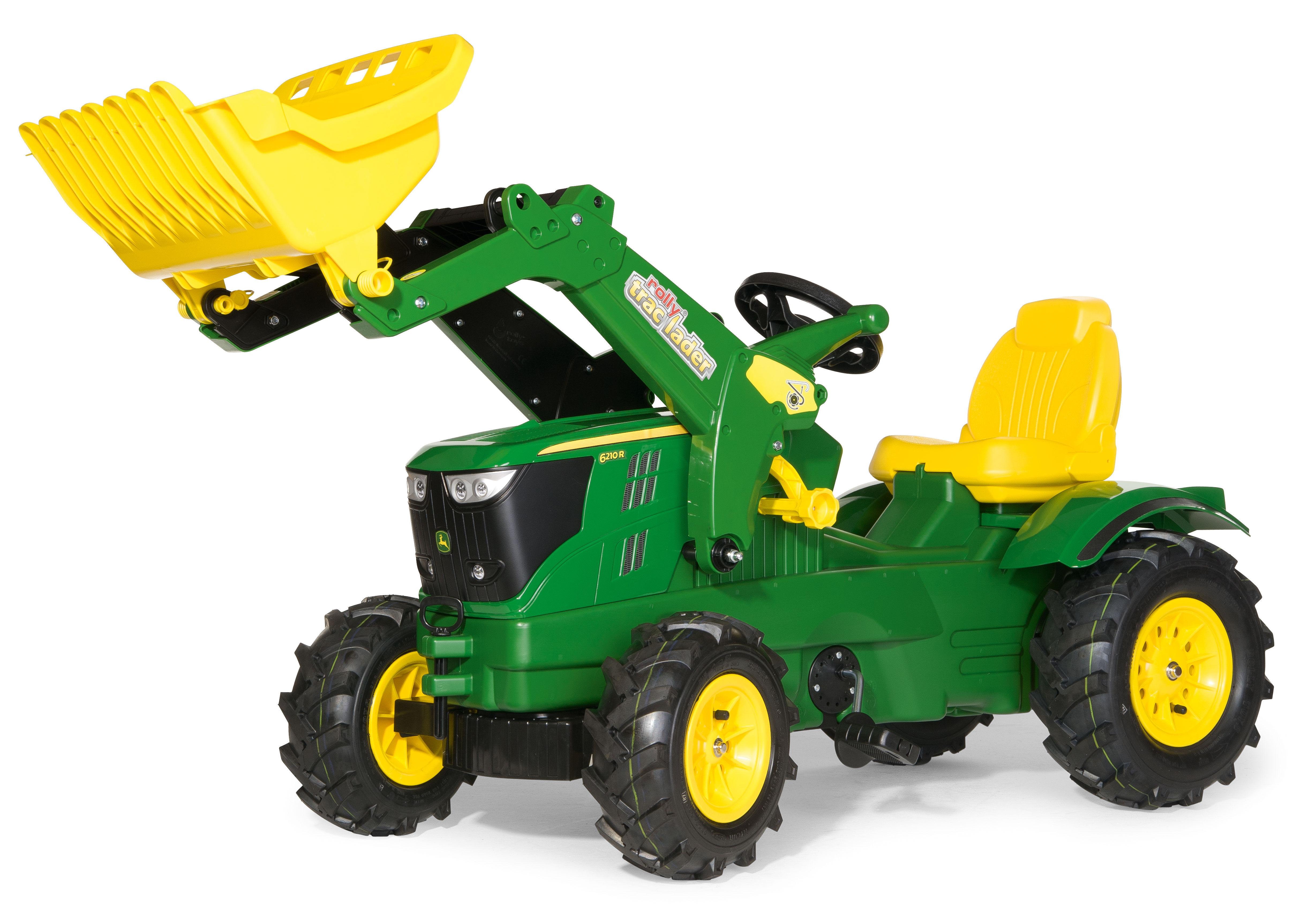 Rolly Toys Rolly Farmtrack John Deere 6210R tråtraktor med lesseapparat og luftfylte gummihjul
