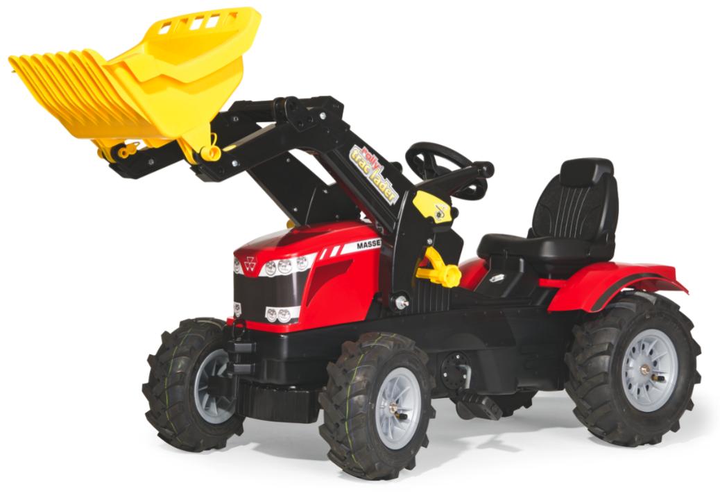 Rolly Toys Rolly Farmtrack Massey Ferguson 7726 tråtraktor med lesseapparat og luftfylte gummihjul