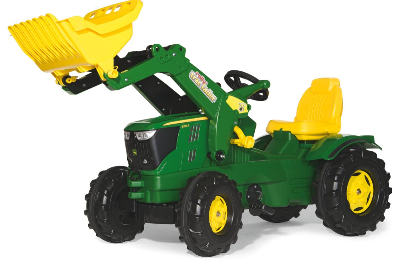 Rolly Toys Rolly Farmtrack John Deere 6210R tråtraktor med lesseapparat