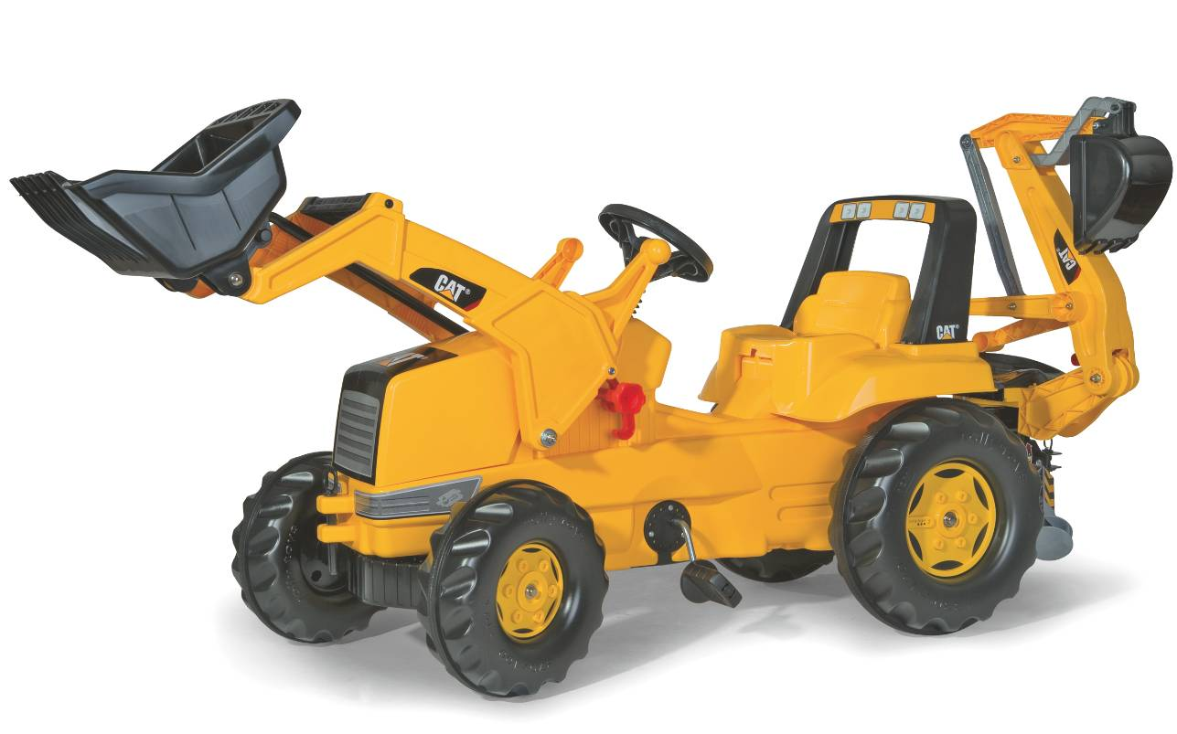Rolly Toys RollyJunior CAT tråtraktor med skuffe og graveredskap