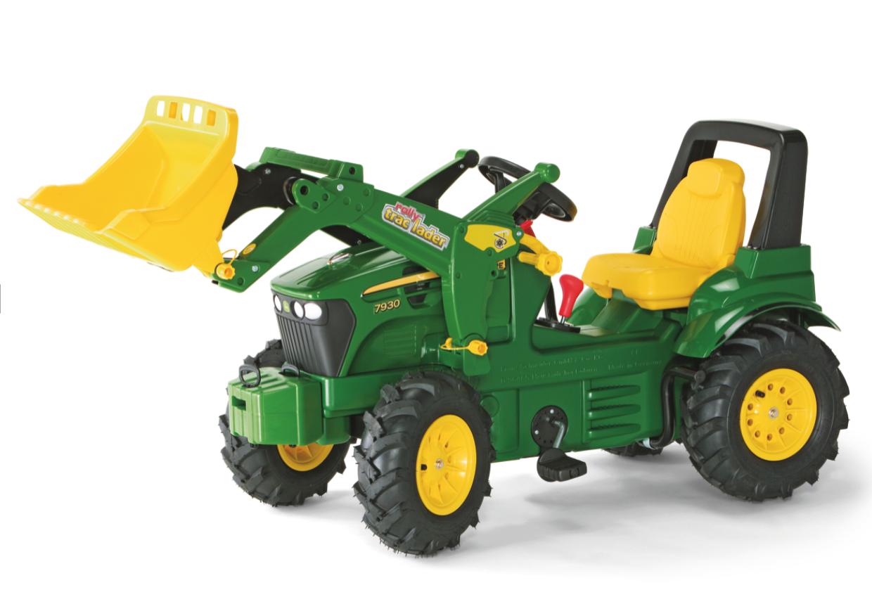 Rolly Toys Tråtraktor John Deere 7930 – med luftfylte gummihjul