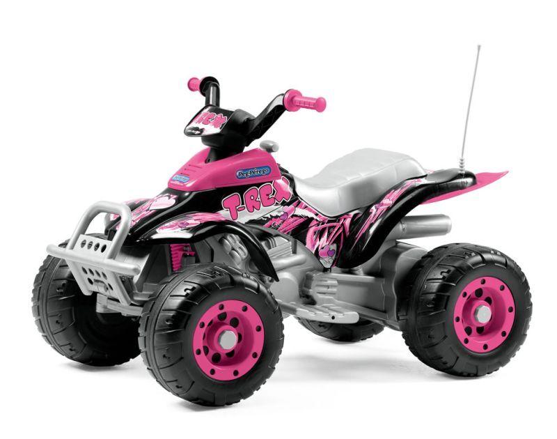 Peg-Pérego Elektrisk ATV Peg Pérego Corral T-Rex Rosa 12V/330W