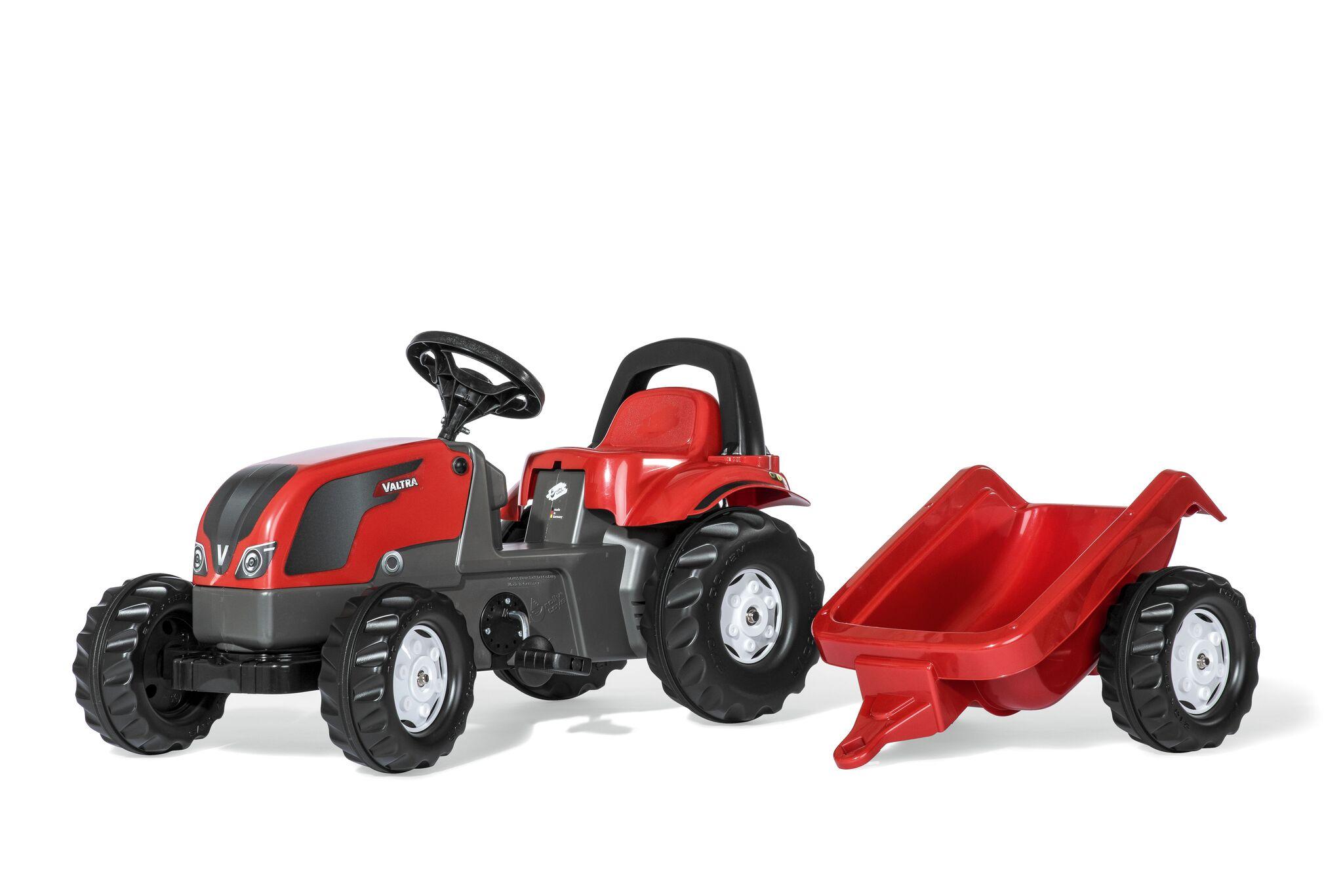 Rolly Toys RollyKid VALTRA tråtraktor med tilhenger