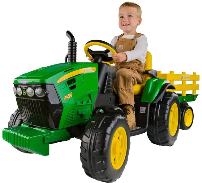 Peg-Pérego John Deere Ground Force 12V elektrisk traktor