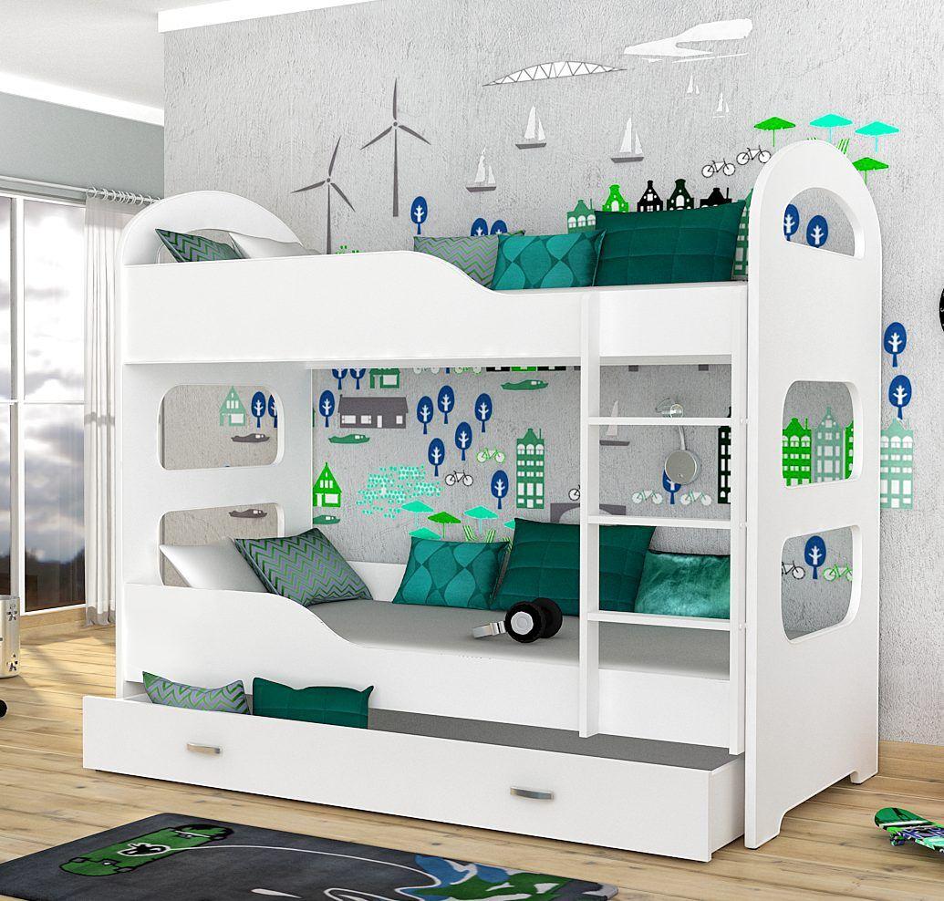Choppi Dominik køyeseng for barn inkludert madrasser 180×80