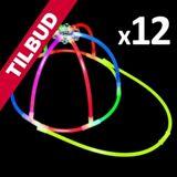 """Knæklys-kasket i """"one-size"""" blandet farver - 12 stk. TILBUD NU"""