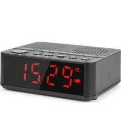 MX4 Bluetooth Clock Radio with Battery TILBUD NU batteri blåtann klokke med