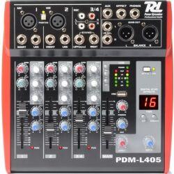 Power Dynamics PDM-L405 4-kanals musik mixer / Phantom power / Ech mikser musikk