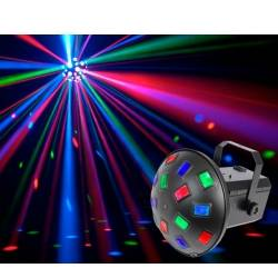 Mushroom 6x3W RGBAWP LED Lyseffekt m. Musikstyring - musicmanagement lighteffect
