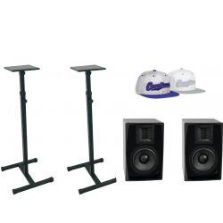 Omnitronic Set 2x ARM-6.5 studio monitor + 2x MO-1 stand TILBUD NU
