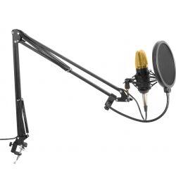 CMS400B Studio Sæt / Kondensatormikrofon med stativ og popfilter TILBUD NU