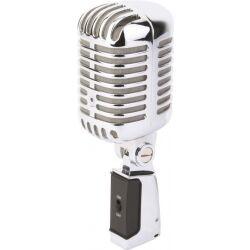 Elvis Mikrofon PDS-M02 i flott retro design, krom utforming chrome style stor