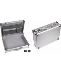 Perel Alu. attache kuffert m. kombinationslås 460 x 335  kombinasjonslås koffert