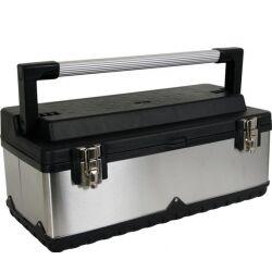 Perel Værktøjskasse Rustfri stål (590 x 280 x 255mm) verktøykasse rustfritt mm