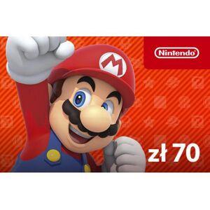 Nintendo ESHOP Doładowanie 70 PLN