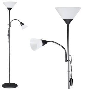 Lampa Lampka Podłogowa Stojaca 175cm Czarna