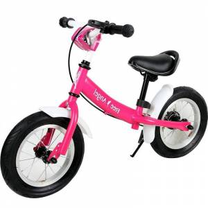 Rower Rowerek Biegowy Stalowy Hamulec Błotniki Róż