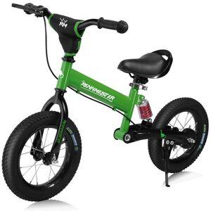 Rower Rowerek Biegowy Stalowy Hamulec Zielony