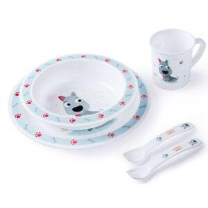 Canpol Plastikowy zestaw stołowy Cute Animals - 4/401_blu