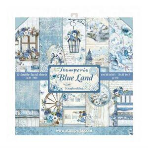 Stamperia Zestaw papierów do scrapbookingu 30,5x30,5 cm BLUE LAND
