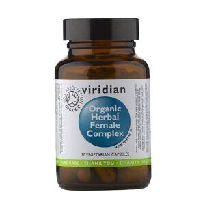 Viridian Dystrybutor: Habio Mariola Olszewska ul Eskulapów 10, 04-403 Ekologiczny kompleks ziół dla kobiet Organic herbal famale complex 30 kapsułek Viridian
