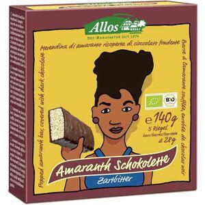 Allos Dystrybutor: Bio Planet S.A., Wilkowa Wieś 7, 05-084 Leszno k. W Baton amarantusowy w gorzkiej czekoladzie BIO 140 g (5 szt.) - Allos