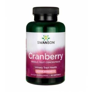 SWANSON Health Produkcts Fargo, ND 58108, USA, Dystrybutor: PRO Sport Żurawina ekstrakt 420mg Cranberry Whole Fruit Concentrate 60 kapsułek SWANSON