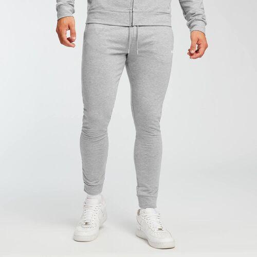 MP Męskie spodnie dresowe Form MP – szary melanż - XXS