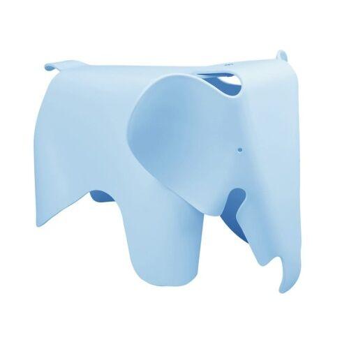 KH Designerski stołek Elephant błękitny