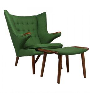 Design Town Fotel z podnóżkiem NIEDŹWIEDŹ - inspirowany proj. Papa Bear Chair - zielony