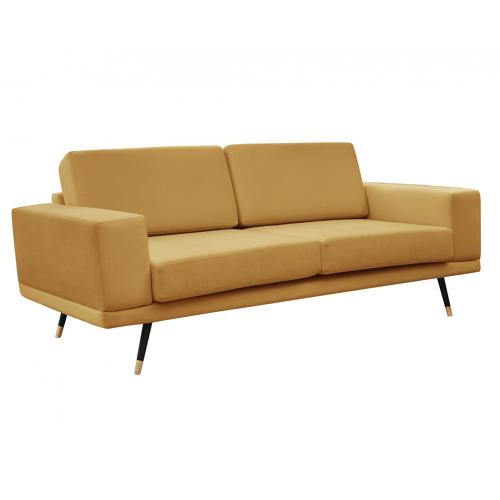 Das Sofa SO SIMPLE! aksamit musztardowy