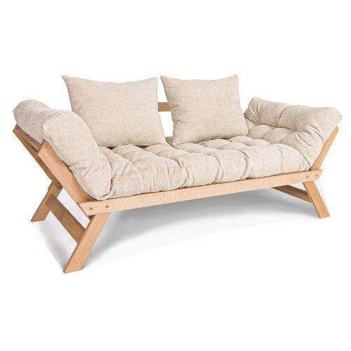Woodman Kompaktowa sofa rozkładana Allegro jasny beż