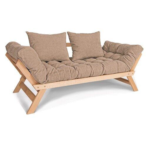 Woodman Kompaktowa sofa Allegro rozkładana ciemny beż