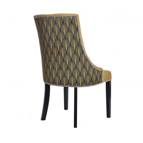 Das Krzesło Art Deco Gold