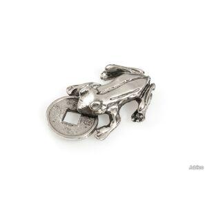 Jubileo.pl ŻABKA FIGURKA FENG SHUI kolor stare srebro amulety