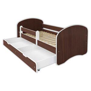 Łóżko dziecięce 160x80 z szufladą HAPPY III - wenge
