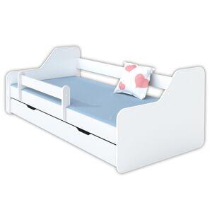 Łóżko dla dziecka z materacem DIONE - białe