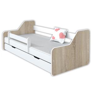 BellaLuni Łóżko dla dziecka z materacem DIONE II - drewno